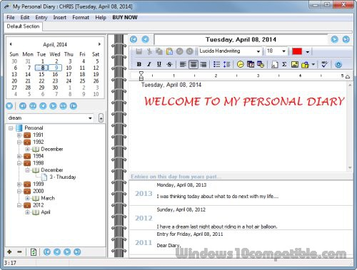 diary program windows
